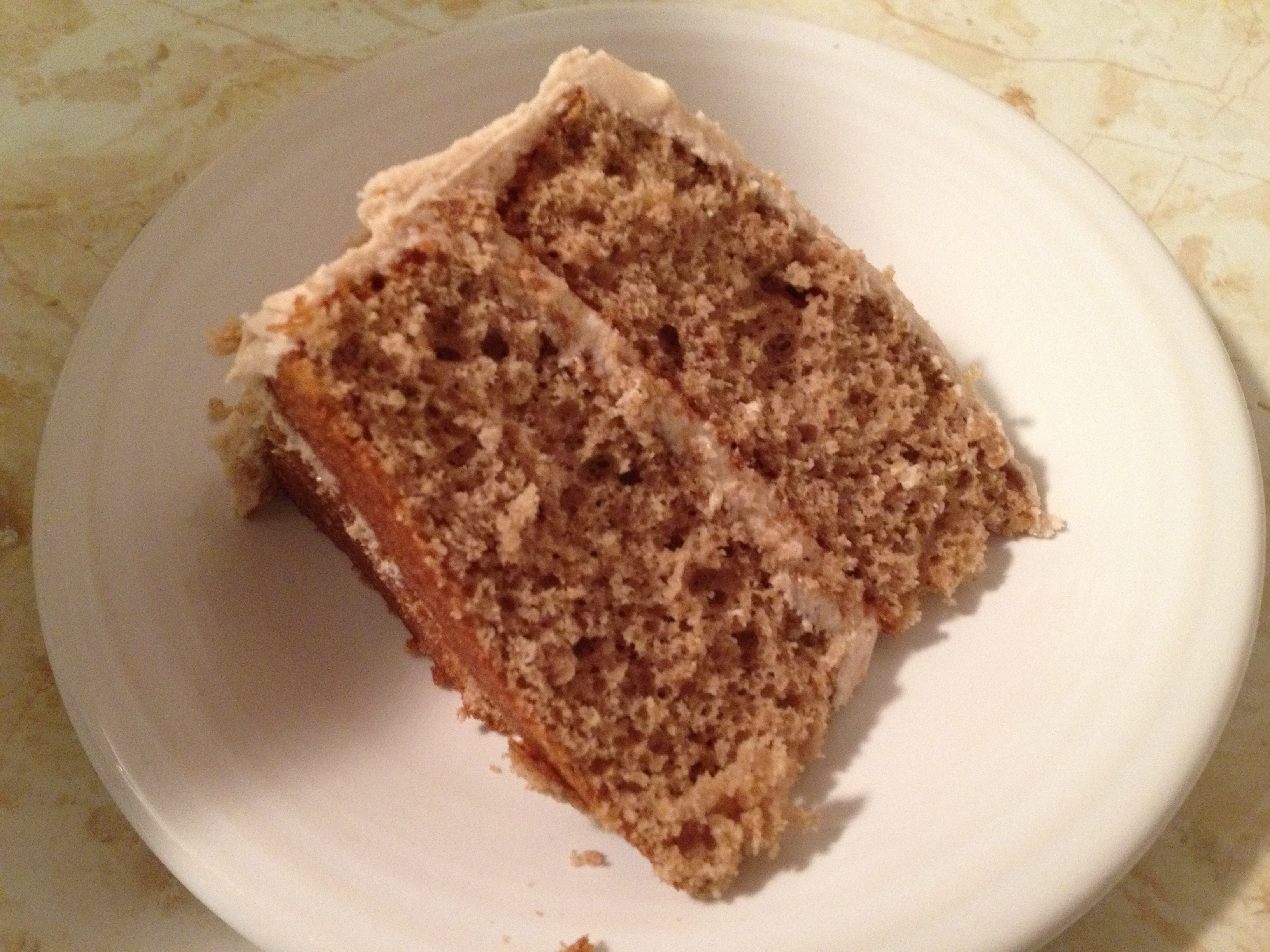 apple spice cake slice