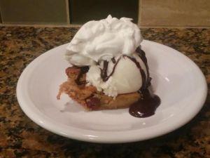 chocolate chip cookie pie sundae