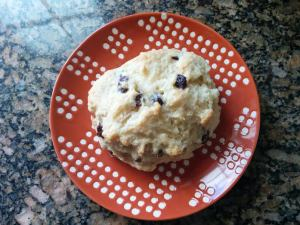 scone top view