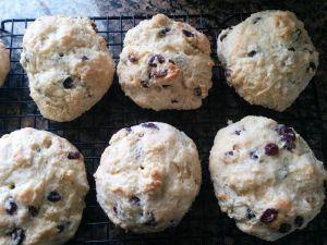 scones on cooling rack