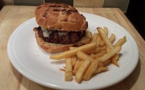 burger with bun on