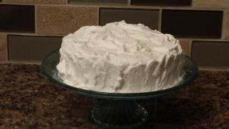 cake with whipped cream