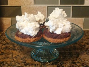 crusts with whipped cream