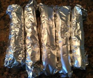 chicken enchiladas in foil
