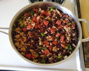 turkey chili in pan
