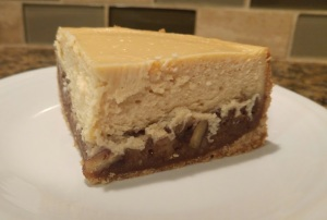 cheesecake slice close up